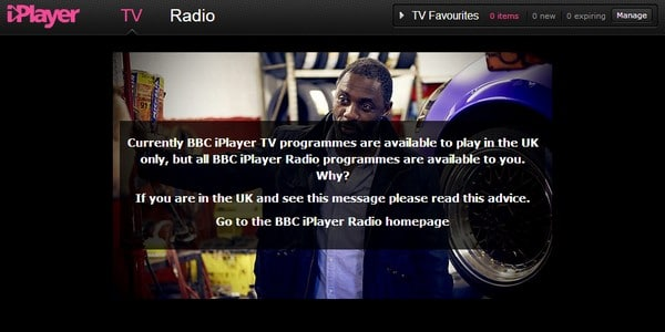 BBC iPlayer unavailable from abroad